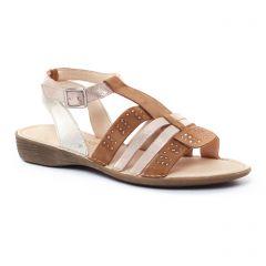 Dorking 7062 Marron : chaussures dans la même tendance femme (sandales marron doré) et disponibles à la vente en ligne