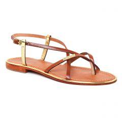 sandales marron doré: même style de chaussures en ligne pour femmes que les Fugitive