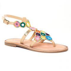 sandales multicolore: même style de chaussures en ligne pour femmes que les Tamaris