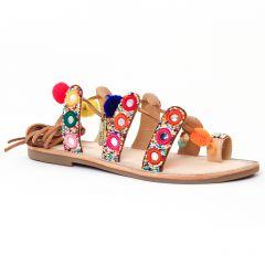 sandales multicolore: même style de chaussures en ligne pour femmes que les Les Tropéziennes