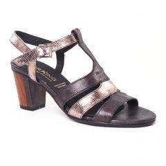 nu-pieds-talons-hauts noir argent: même style de chaussures en ligne pour femmes que les Caprice