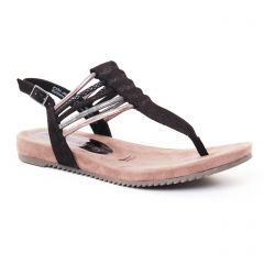 Chaussures femme été 2017 - sandales tamaris noir argent