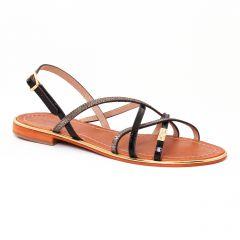 Les Tropéziennes Belle Noir : chaussures dans la même tendance femme (sandales noir argent) et disponibles à la vente en ligne