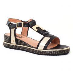 Chaussures femme été 2017 - sandales compensées Mamzelle noir doré