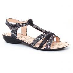 sandales noir gris argent: même style de chaussures en ligne pour femmes que les Les Tropéziennes