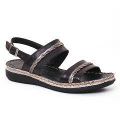 Chaussures femme été 2017 - sandales tamaris noir gris