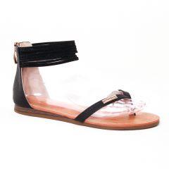 sandales noir: même style de chaussures en ligne pour femmes que les Scarlatine