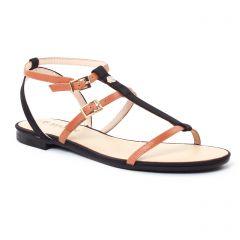 sandales noir marron: même style de chaussures en ligne pour femmes que les Les Tropéziennes