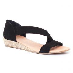 espadrilles-compensees noir: même style de chaussures en ligne pour femmes que les Aedo