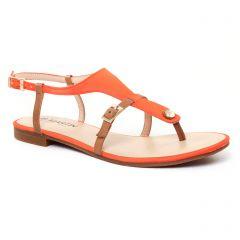 sandales orange marron: même style de chaussures en ligne pour femmes que les Les Tropéziennes