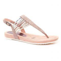 Chaussures femme été 2017 - sandales tamaris rose multi