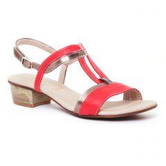 Chaussures femme été 2017 - sandales Dorking rouge