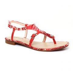Chaussures femme été 2017 - sandales JB Martin rouge