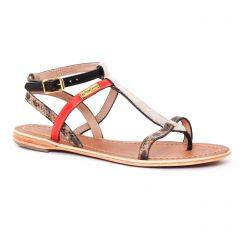sandales rouge noir: même style de chaussures en ligne pour femmes que les Tamaris