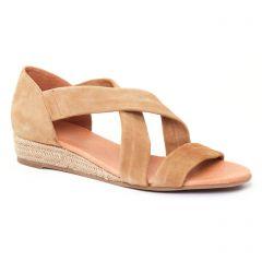 espadrilles-compensees beige: même style de chaussures en ligne pour femmes que les Aedo