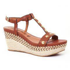 nu-pieds-semelle-corde marron: même style de chaussures en ligne pour femmes que les Tamaris