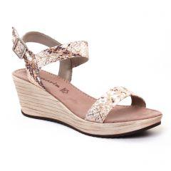 nu-pieds-talons-compenses multi: même style de chaussures en ligne pour femmes que les Scarlatine