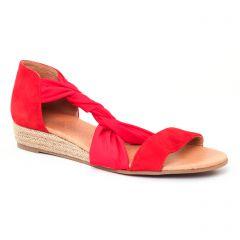 espadrilles-compensees rouge: même style de chaussures en ligne pour femmes que les Aedo