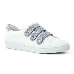 tennis blanc argent: même style de chaussures en ligne pour femmes que les Scarlatine