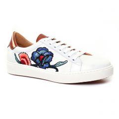 tennis blanc orange: même style de chaussures en ligne pour femmes que les Marco Tozzi