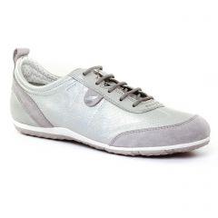 Chaussures femme été 2017 - tennis Geox gris argent