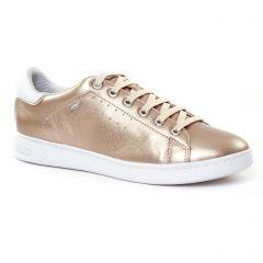 Chaussures femme été 2017 - tennis Geox marron doré