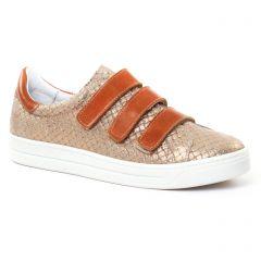 tennis marron doré: même style de chaussures en ligne pour femmes que les Les Tropéziennes
