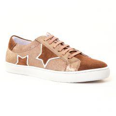 tennis marron doré: même style de chaussures en ligne pour femmes que les Scarlatine