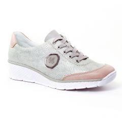 Chaussures femme été 2017 - tennis rieker rose beige