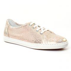 tennis rose gris argent: même style de chaussures en ligne pour femmes que les Les Tropéziennes