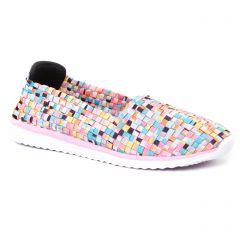 tennis rose mulicolore: même style de chaussures en ligne pour femmes que les Mtng