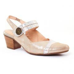 trotteurs-babies beige argent: même style de chaussures en ligne pour femmes que les Rieker