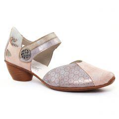 Chaussures femme été 2017 - trotteurs-babies rieker beige gris