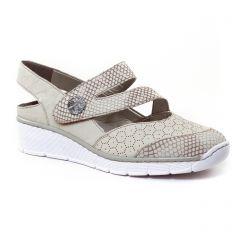 trotteurs-babies beige: même style de chaussures en ligne pour femmes que les Rieker