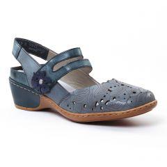 Chaussures femme été 2017 - trotteurs-babies rieker bleu