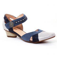 trotteurs-babies gris argent bleu: même style de chaussures en ligne pour femmes que les Rieker
