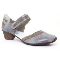 Chaussures femme été 2017 - trotteurs-babies rieker gris bleu