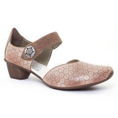 Chaussures femme été 2017 - trotteurs-babies rieker marron beige