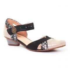trotteurs-babies noir doré: même style de chaussures en ligne pour femmes que les Rieker