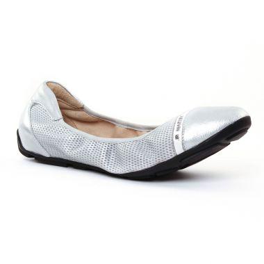 Ballerines Jb Martin 3 Omaley Silver Blanc, vue principale de la chaussure femme