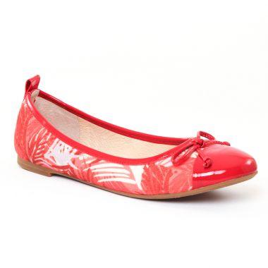 Ballerines Jb Martin Olsen Rouge, vue principale de la chaussure femme