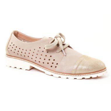 Chaussures À Lacets Fugitive Woel Metal Beige, vue principale de la chaussure femme
