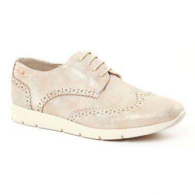 Chaussures À Lacets Mtng 50820 Beige, vue principale de la chaussure femme