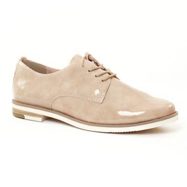 Chaussures À Lacets Marco Tozzi 23201 Nude, vue principale de la chaussure femme