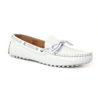 Mocassins Christian Pellet Thelma Blanc, vue principale de la chaussure femme
