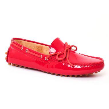 Mocassins Christian Pellet Thelma Rouge, vue principale de la chaussure femme