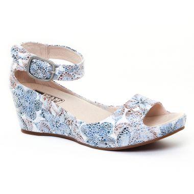 Nu Pieds Et Sandales Mamzelle Pantin Flower Ecru, vue principale de la chaussure femme