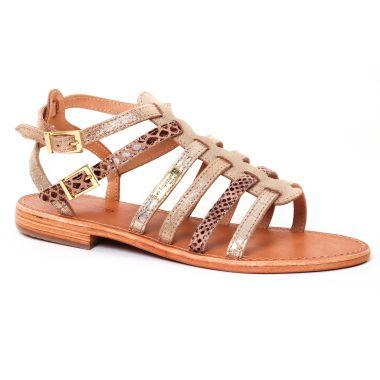 Nu Pieds Et Sandales Les Tropeziennes Baille Or Muliti, vue principale de la chaussure femme