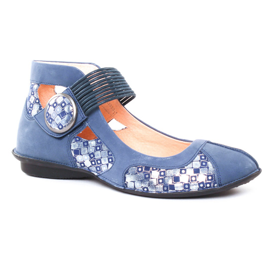 Ballerines Fugitive Uffy Metal Navy, vue principale de la chaussure femme