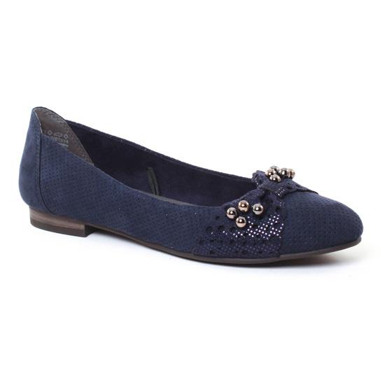 Ballerines Marco Tozzi 22104 Navy, vue principale de la chaussure femme